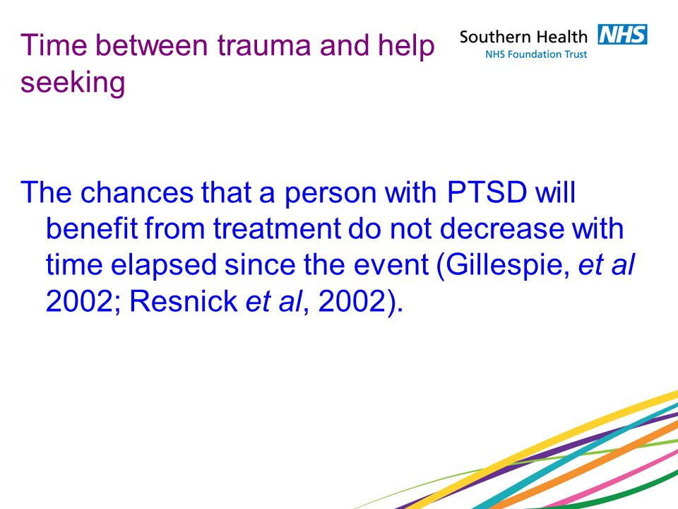 Time between trauma and help seeking