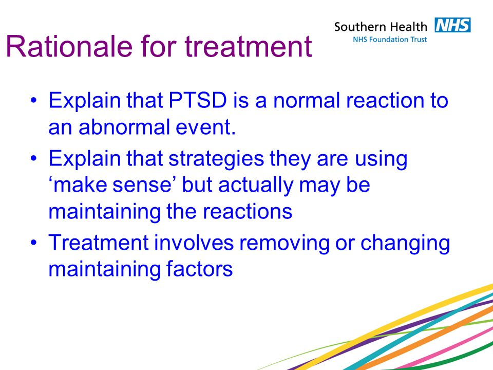 Rationale for treatment
