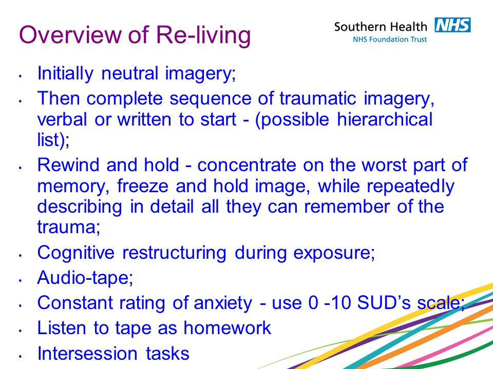 Overview of Re-living Initially neutral imagery;
