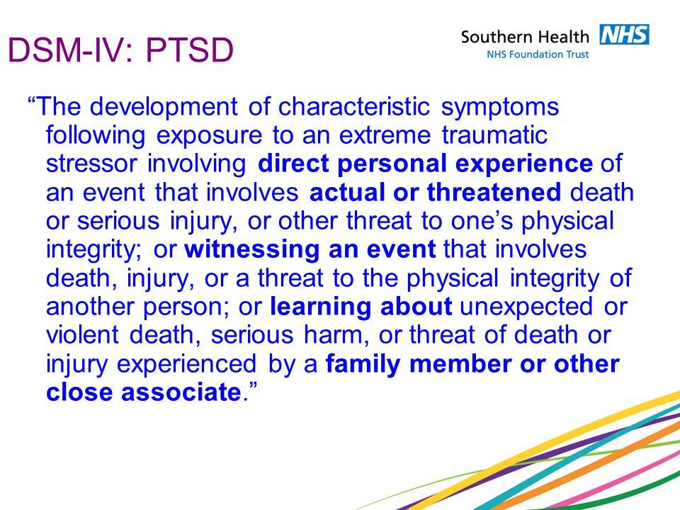 DSM-IV: PTSD
