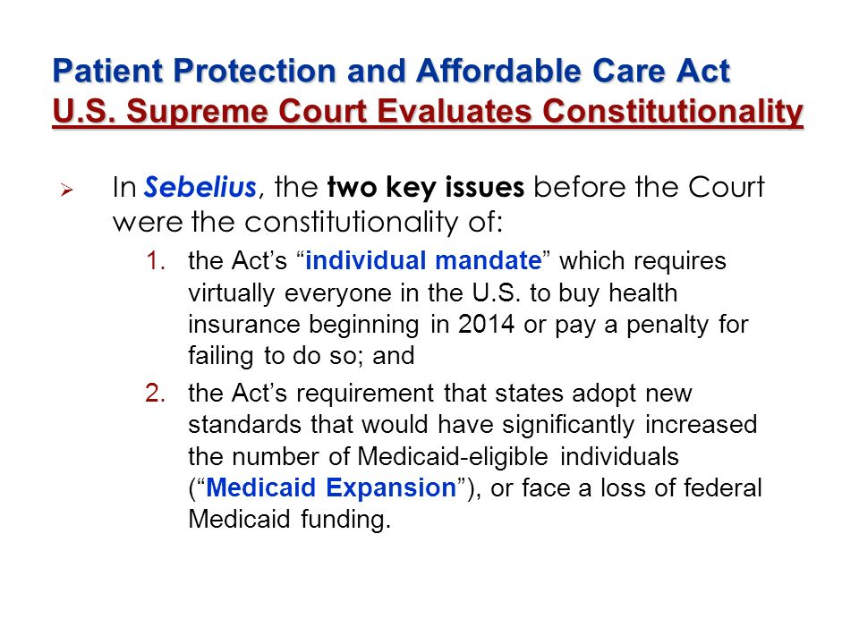 Patient Protection and Affordable Care Act U. S