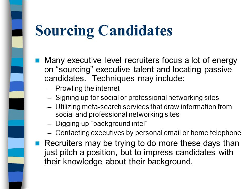 Sourcing Candidates