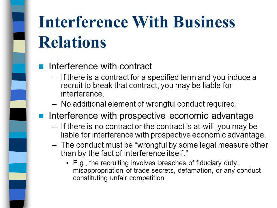 conspiracy interference with contractual and business relationship