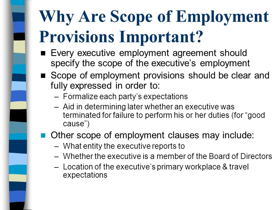 Why Are Scope of Employment Provisions Important