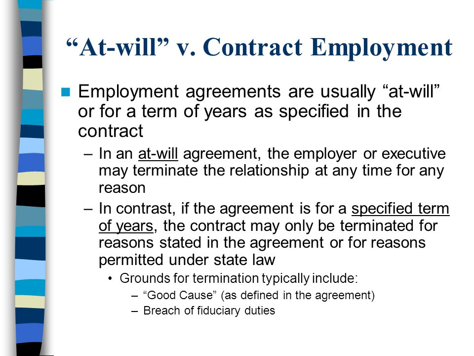 At-will v. Contract Employment