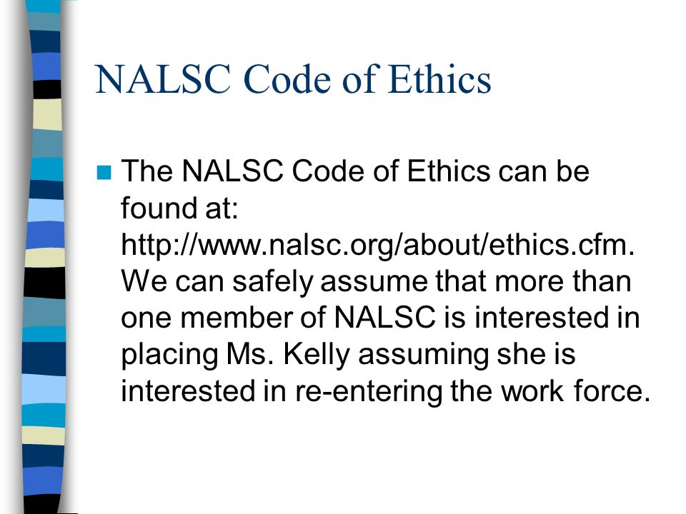 NALSC Code of Ethics