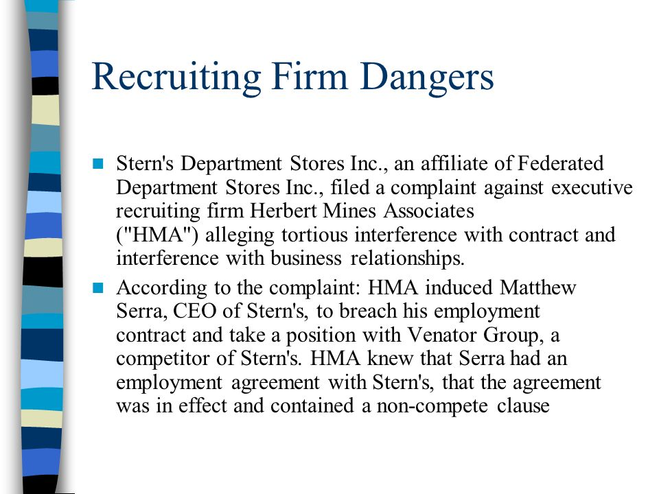 Recruiting Firm Dangers