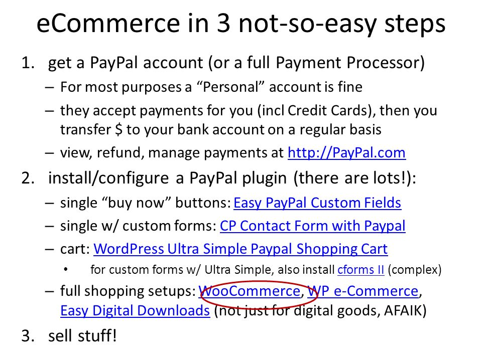 eCommerce in 3 not-so-easy steps