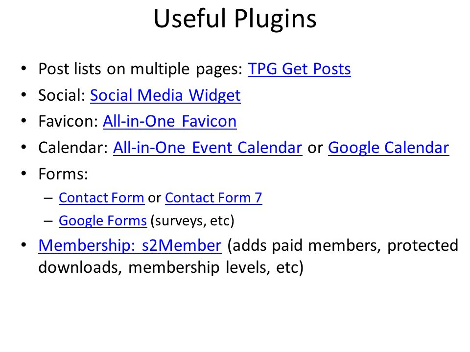 Useful Plugins Post lists on multiple pages: TPG Get Posts