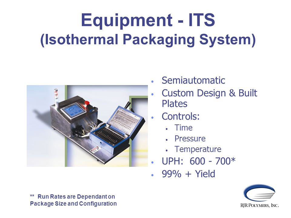 Equipment - ITS (Isothermal Packaging System)