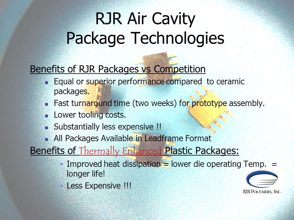 RJR Air Cavity Package Technologies