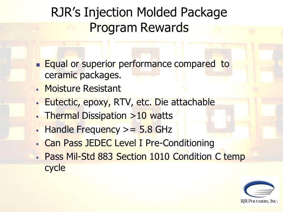 RJR's Injection Molded Package Program Rewards
