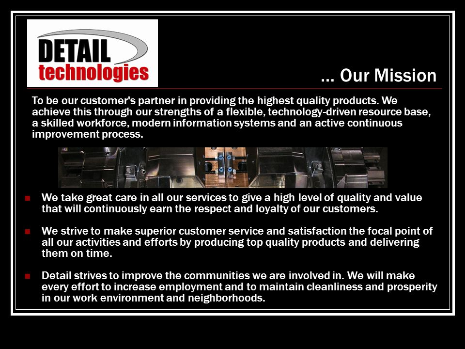 … Our Mission