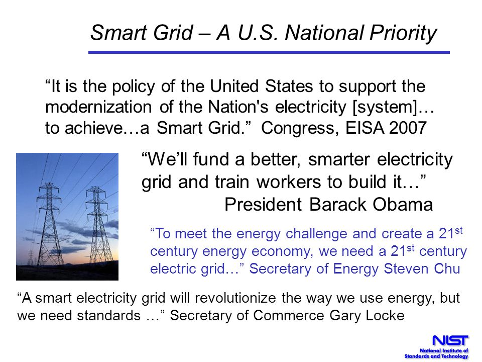 Smart Grid – A U.S. National Priority