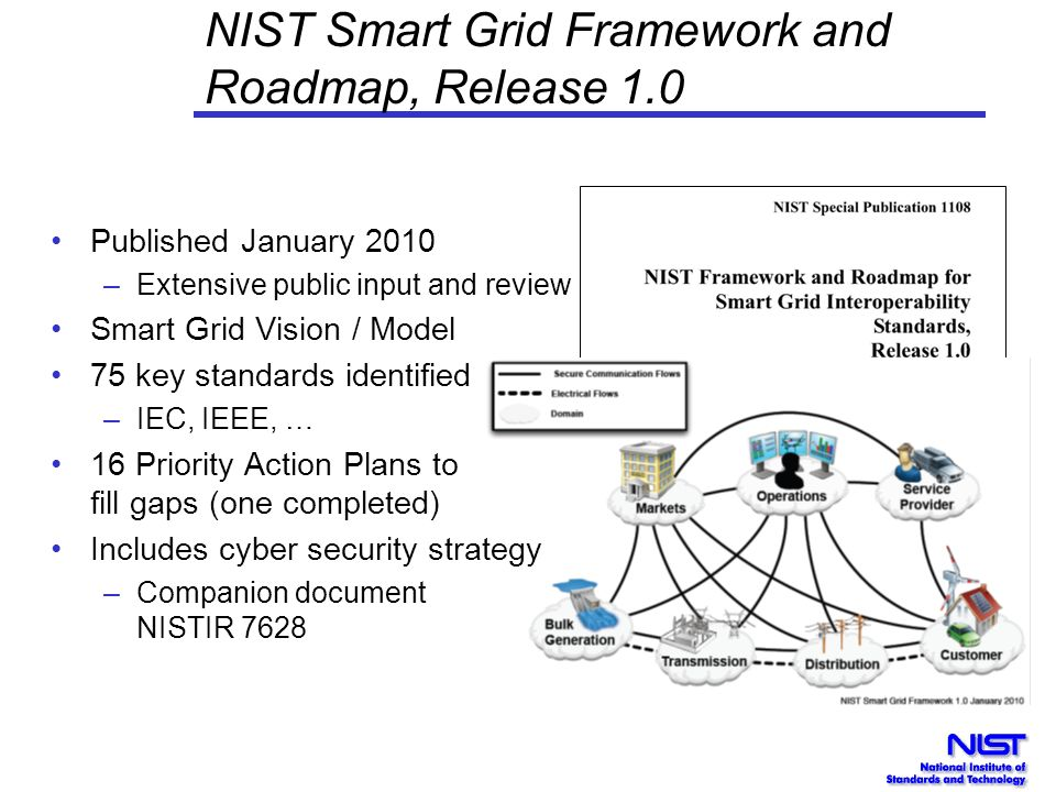 NIST Smart Grid Framework and Roadmap, Release 1.0