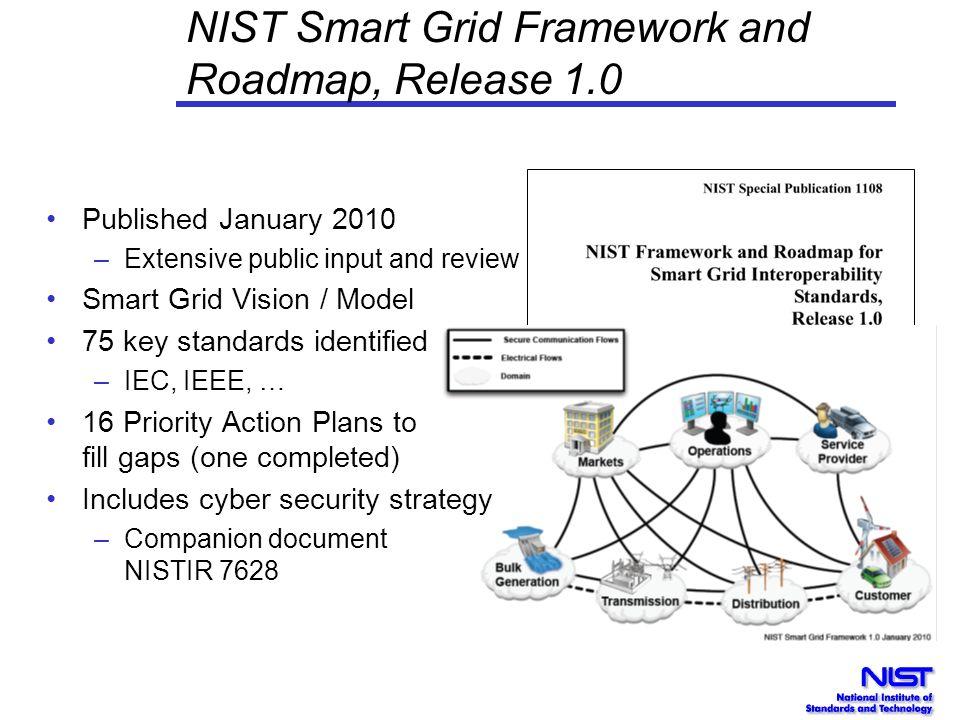 NIST Smart Grid Framework and Roadmap, Release 1.0