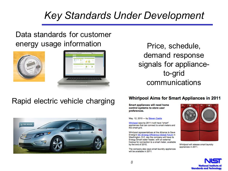 Key Standards Under Development