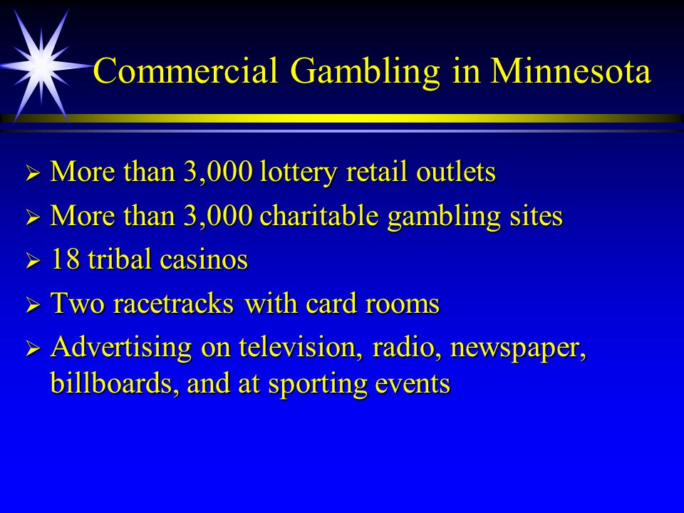Commercial Gambling in Minnesota