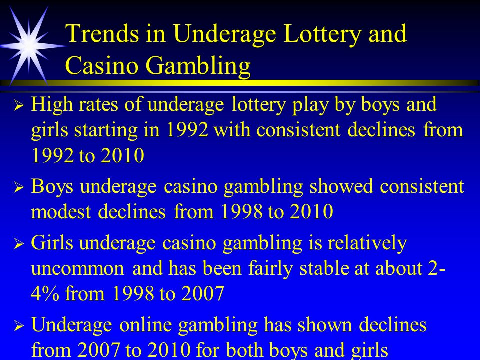 Trends in Underage Lottery and Casino Gambling