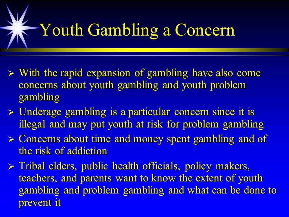 Youth Gambling a Concern