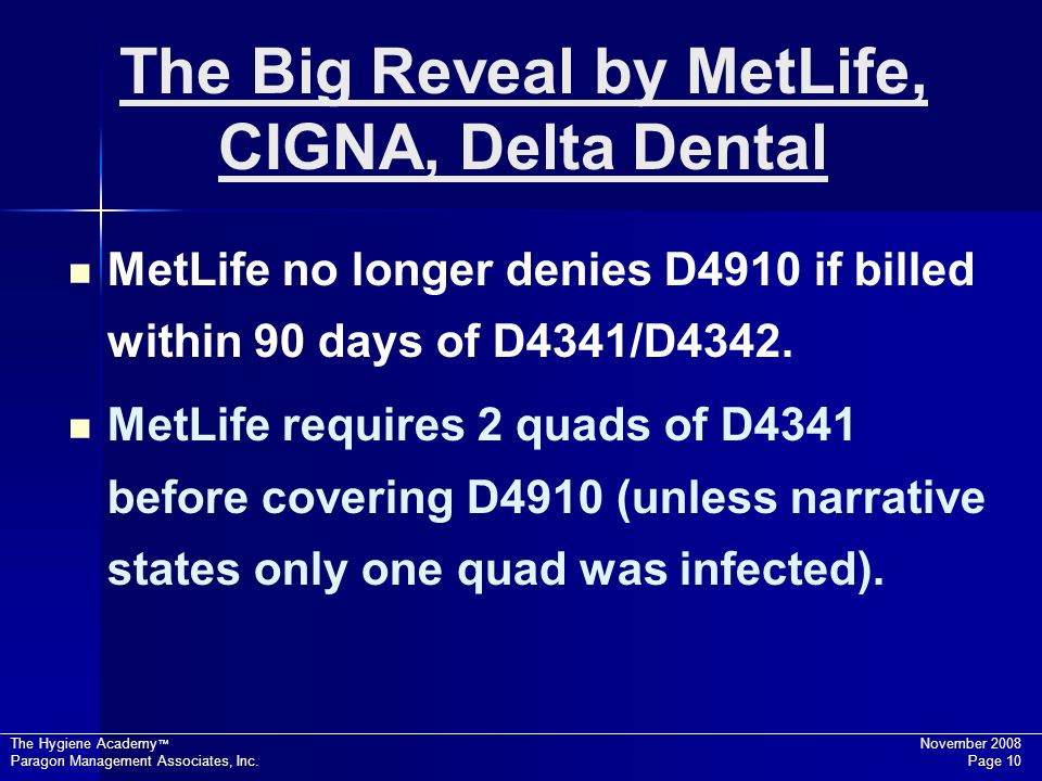 The Big Reveal by MetLife, CIGNA, Delta Dental