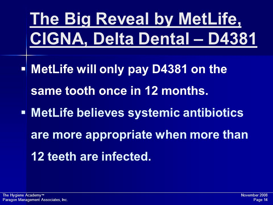 The Big Reveal by MetLife, CIGNA, Delta Dental – D4381