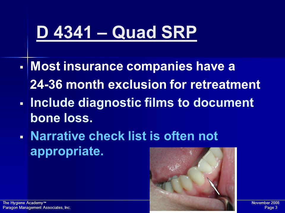 D 4341 – Quad SRP Most insurance companies have a
