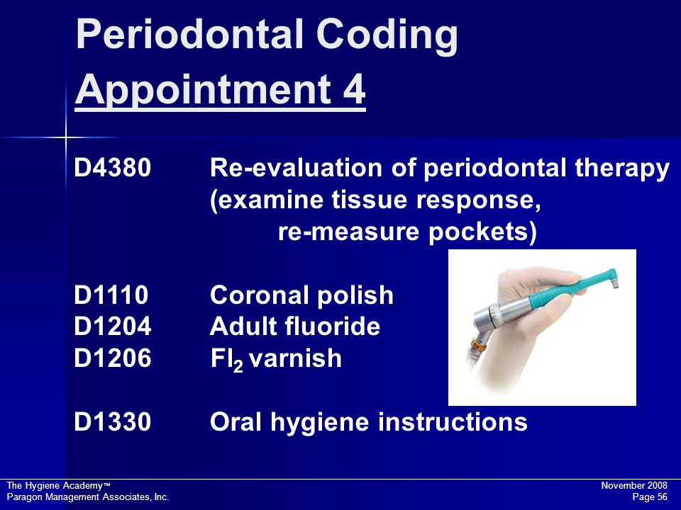 Periodontal Coding Appointment 4