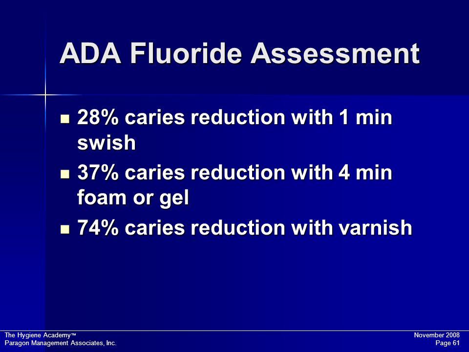 ADA Fluoride Assessment