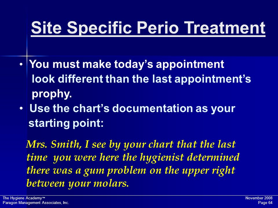 Site Specific Perio Treatment