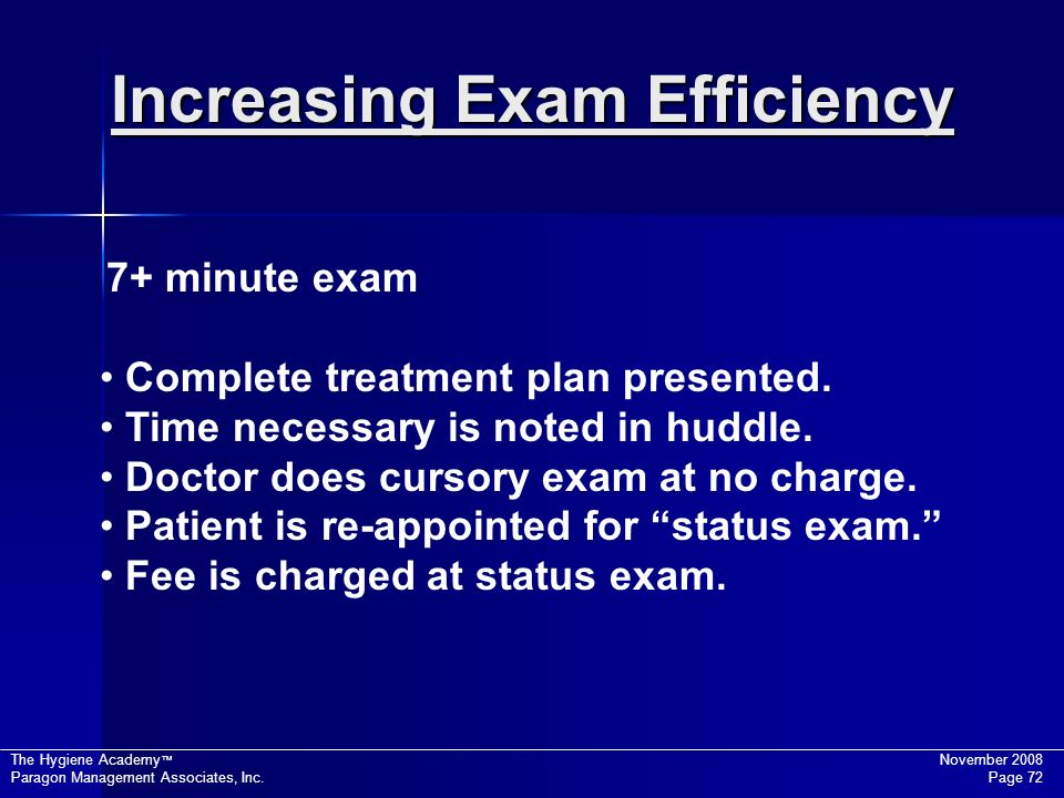 Increasing Exam Efficiency