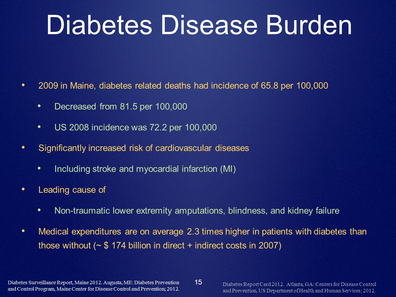 Diabetes Disease Burden