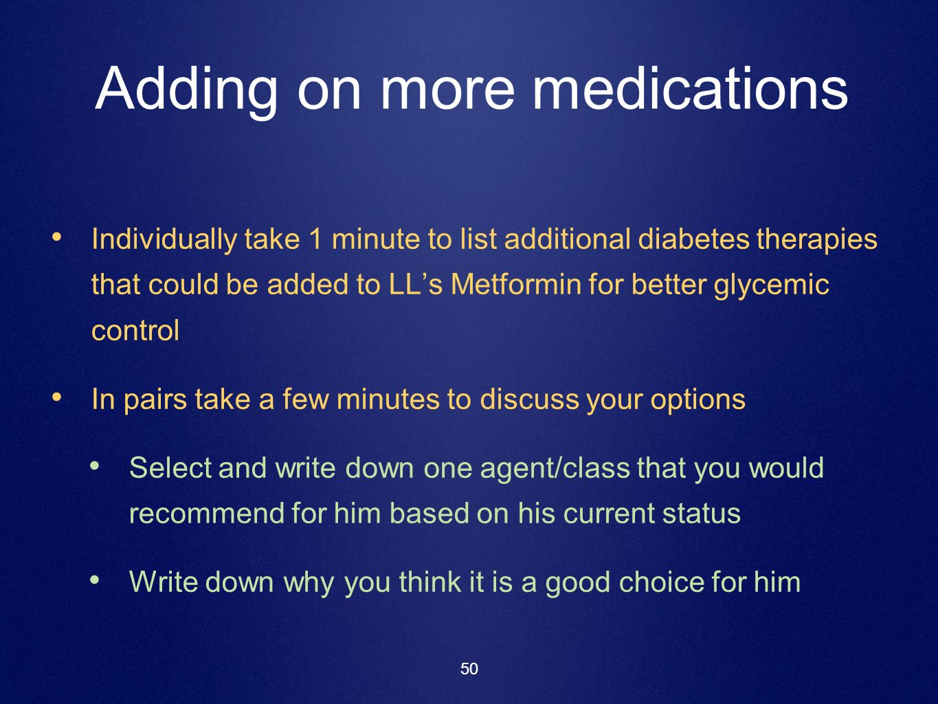 Adding on more medications