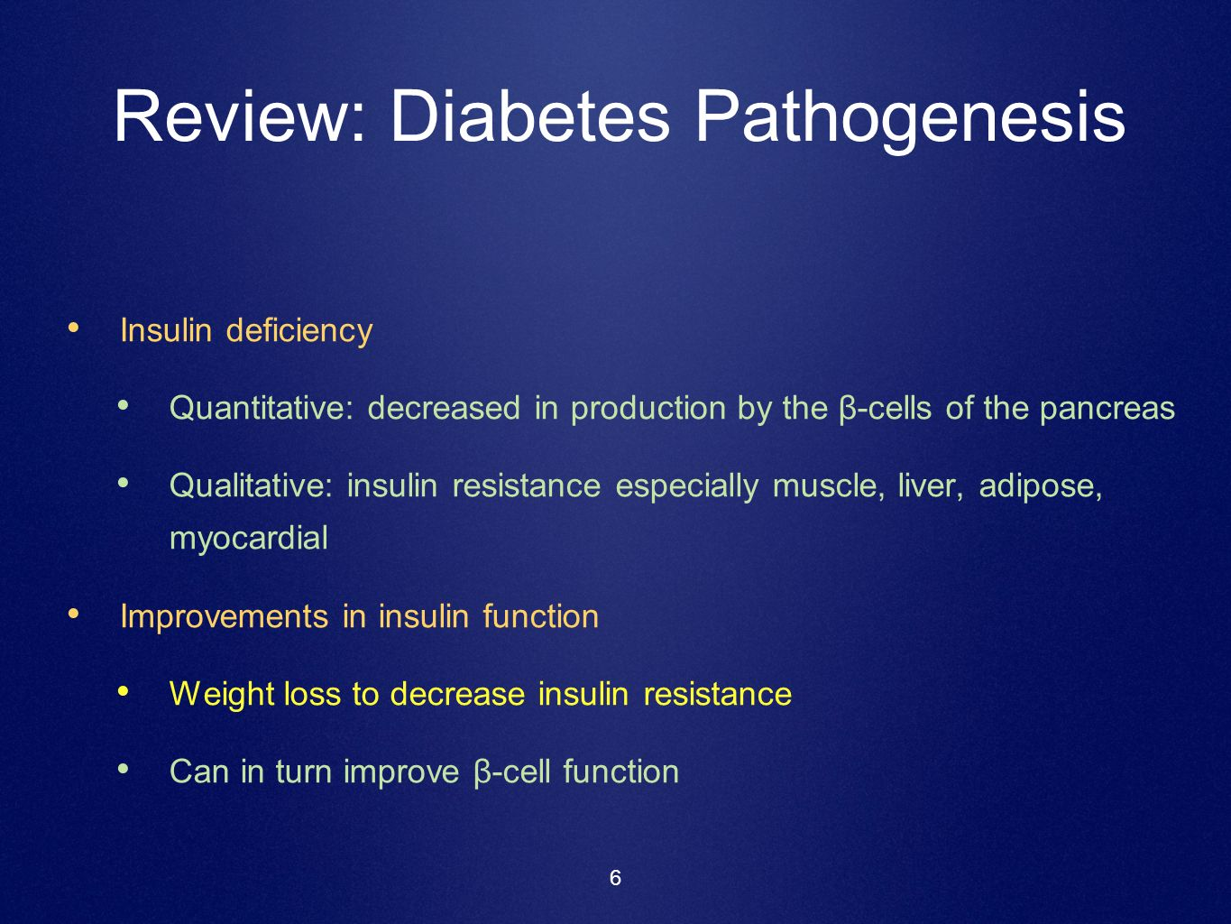 Review: Diabetes Pathogenesis