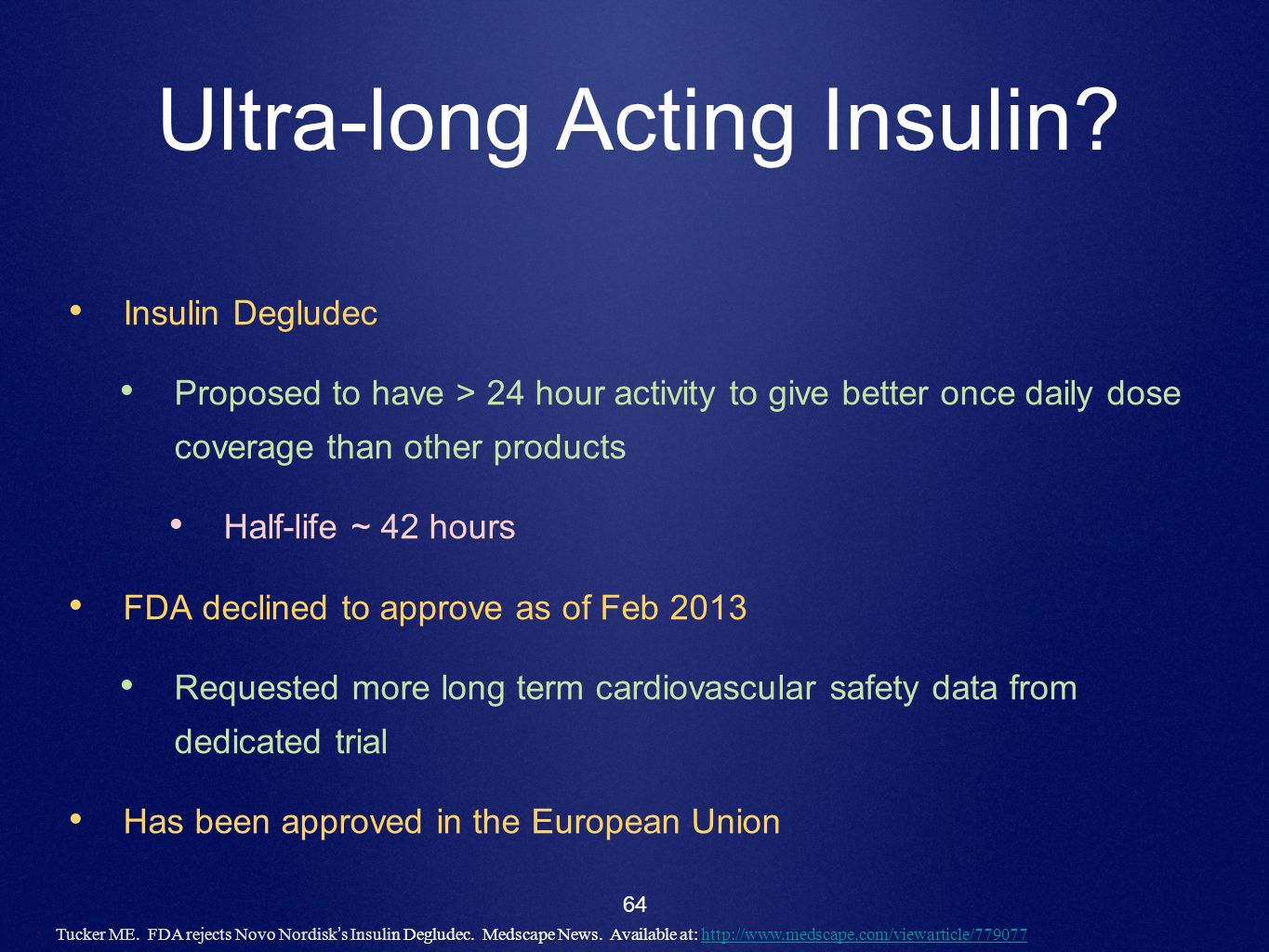 Ultra-long Acting Insulin