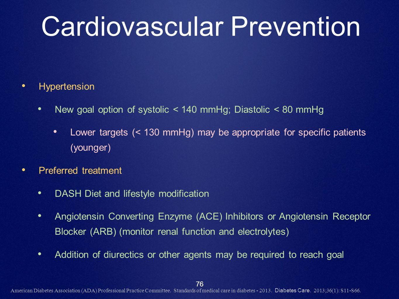 Cardiovascular Prevention