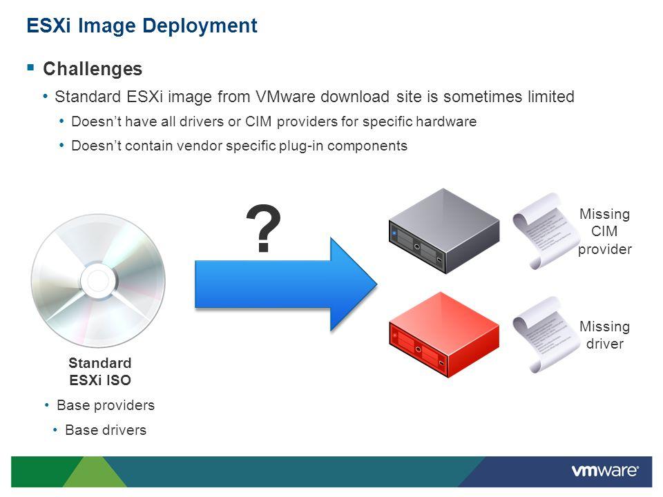 ESXi Image Deployment Challenges