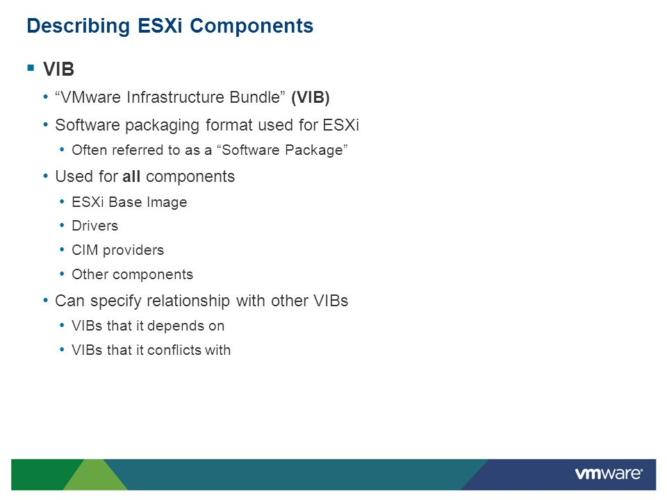 Describing ESXi Components
