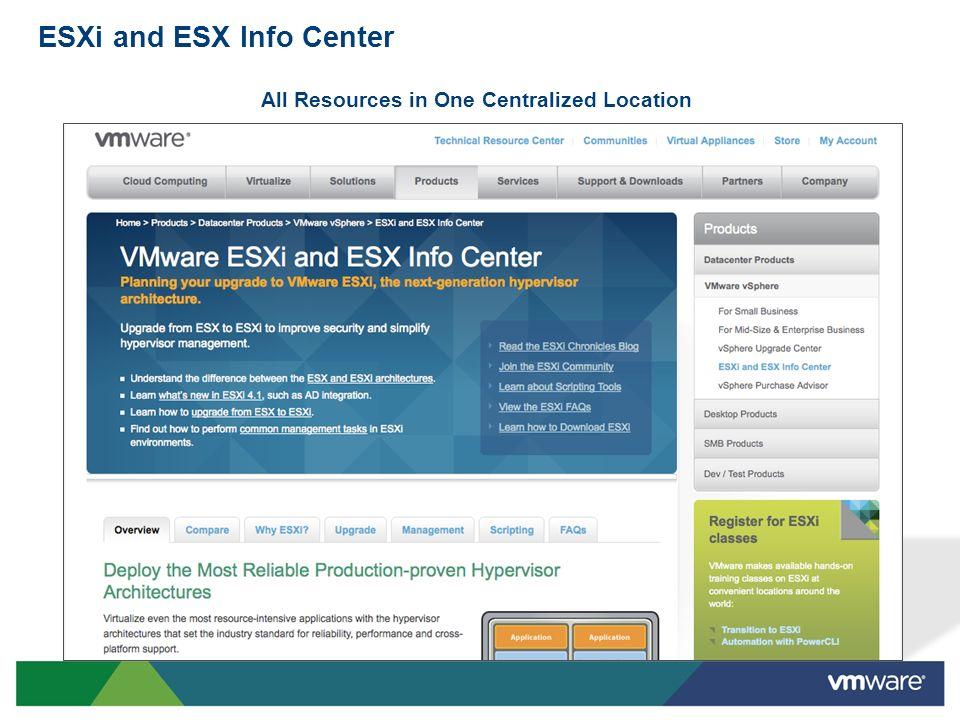 ESXi and ESX Info Center