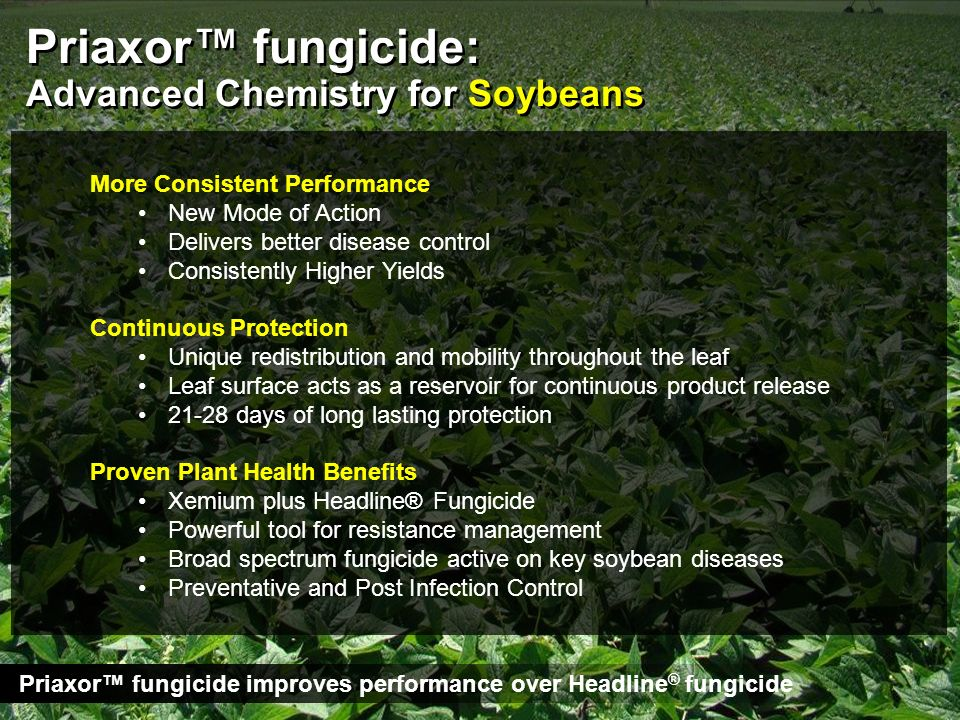 Priaxor™ fungicide: Advanced Chemistry for Soybeans