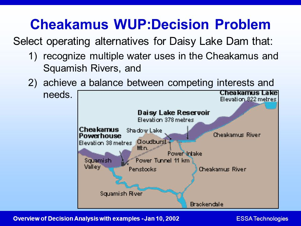 Cheakamus WUP:Decision Problem