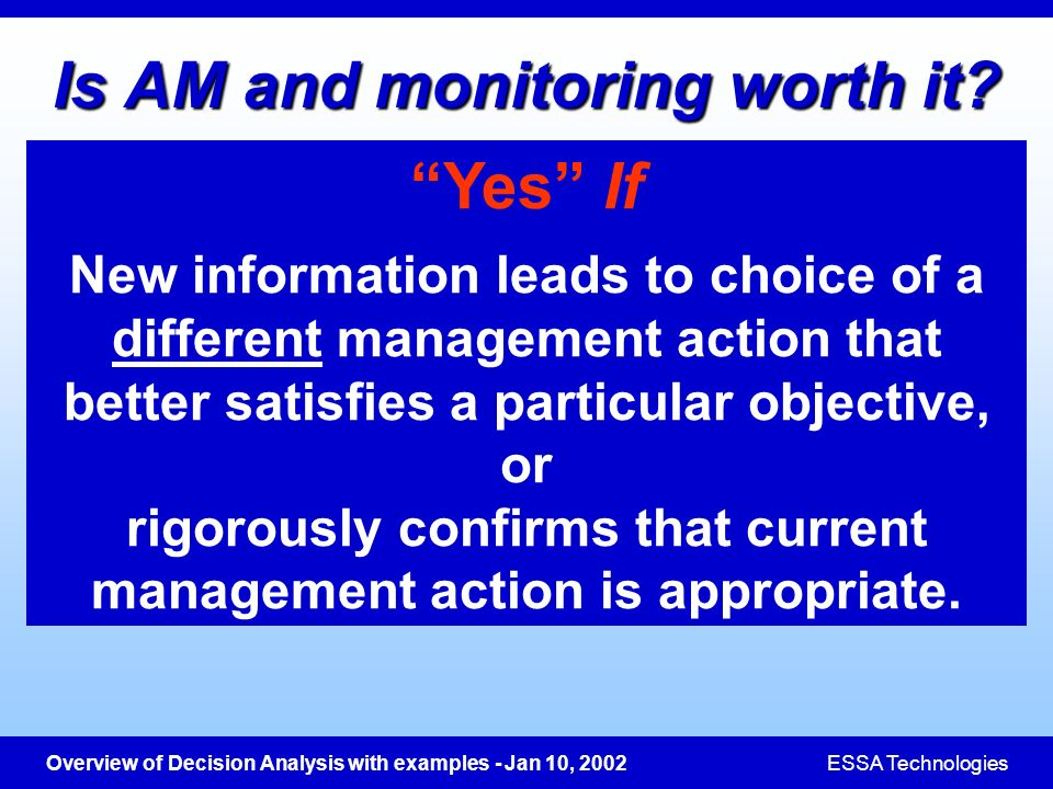 Is AM and monitoring worth it