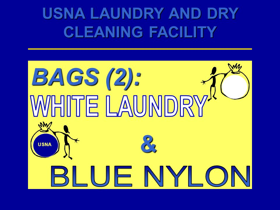 BAGS (2): & WHITE LAUNDRY USNA BLUE NYLON