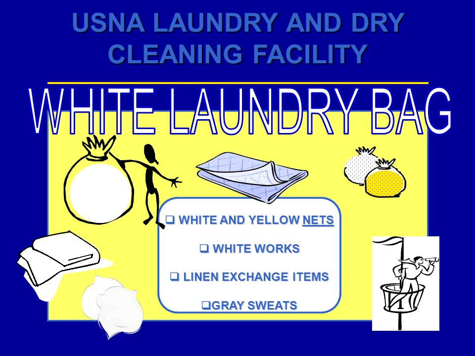 WHITE LAUNDRY BAG WHITE AND YELLOW NETS WHITE WORKS
