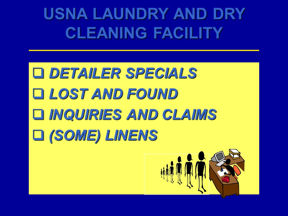 DETAILER SPECIALS LOST AND FOUND INQUIRIES AND CLAIMS (SOME) LINENS