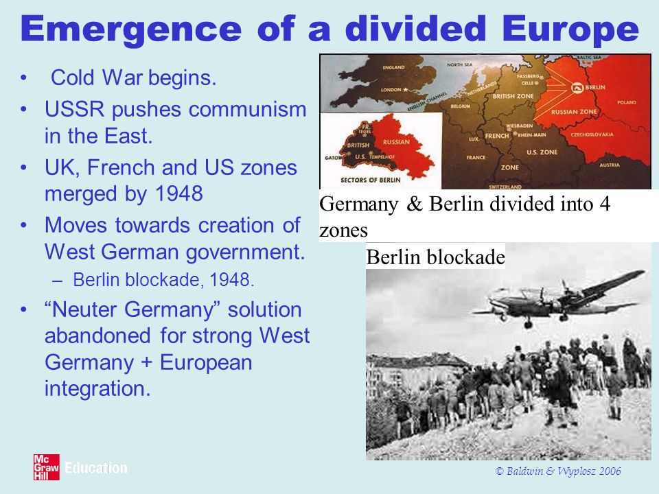 Emergence of a divided Europe