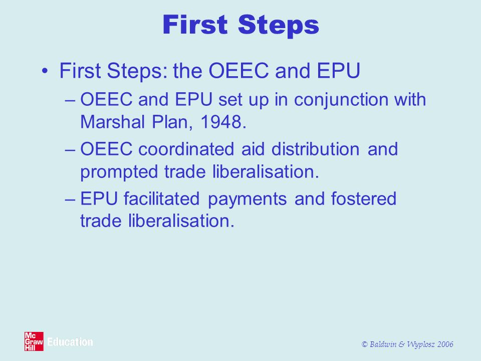 First Steps First Steps: the OEEC and EPU