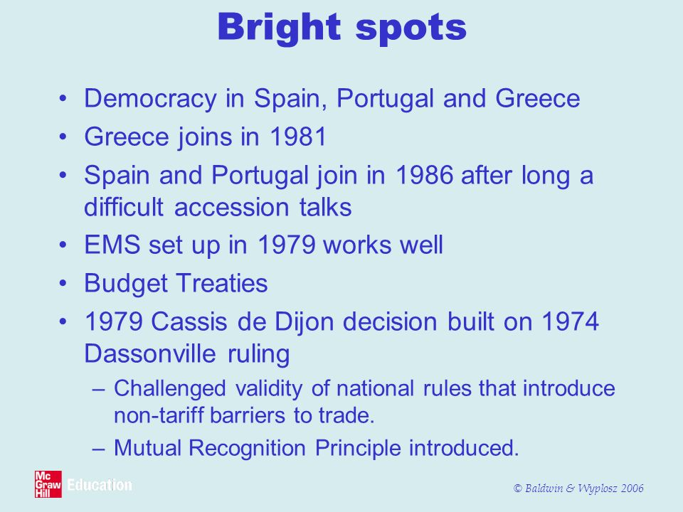 Bright spots Democracy in Spain, Portugal and Greece
