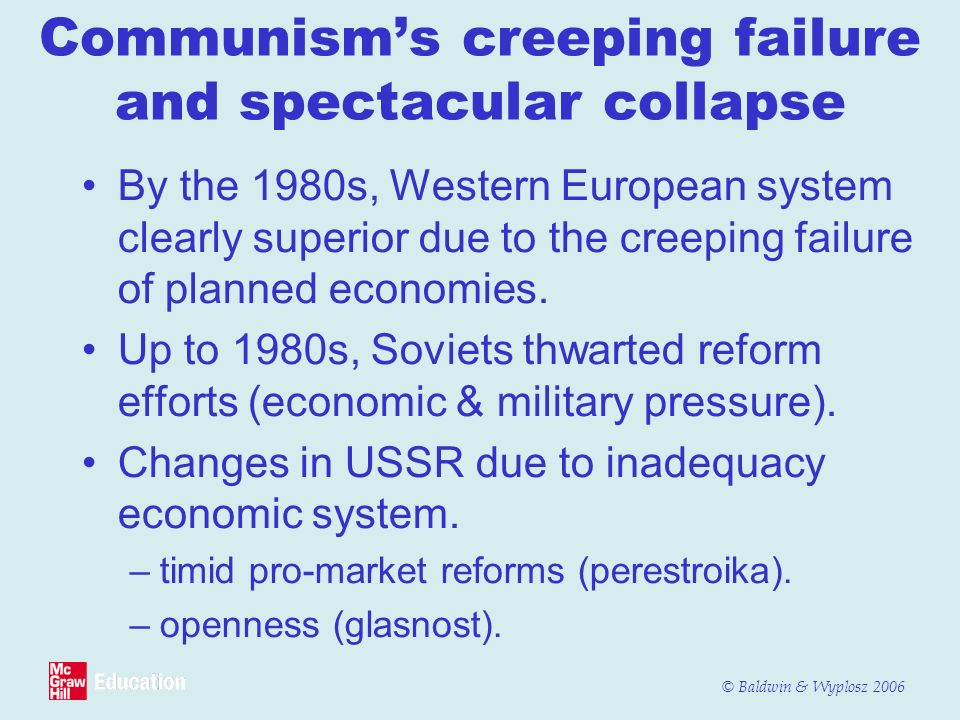 Communism's creeping failure and spectacular collapse