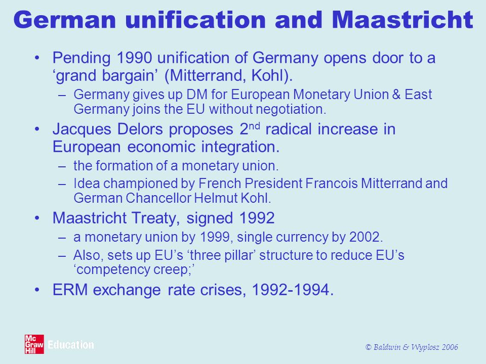 German unification and Maastricht